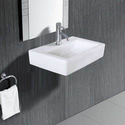ELANTI 1601 Porcelain Rectangular Wall Mounted Compact Sink Model 151827891 Bathroom Sinks