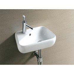 ELANTI 1602 R Right Facing Porcelain Wall Mounted Triangular Sink Model 151827911 Bathroom Sinks