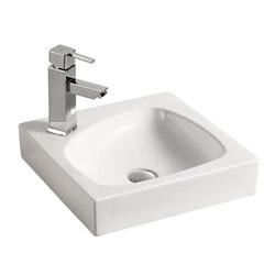 ELANTI 1604 Porcelain Pebble Shaped Basin Square Frame Sink Model 151827941 Bathroom Sinks