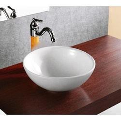 ELANTI EC9818 Porcelain Vessel Deep Bowl Sink 15'' Model 151827971 Bathroom Sinks