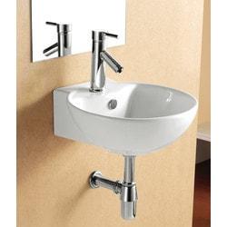 ELANTI EC9819 Porcelain Wall Mounted Deep Bowl ADA Sink Model 151827981 Bathroom Sinks