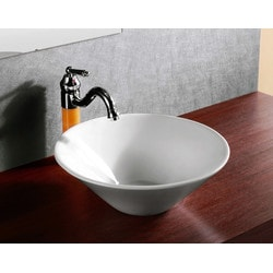 ELANTI EC9829 Porcelain Vessel Deep Round Bowl Sink 16'' Model 151827991 Bathroom Sinks