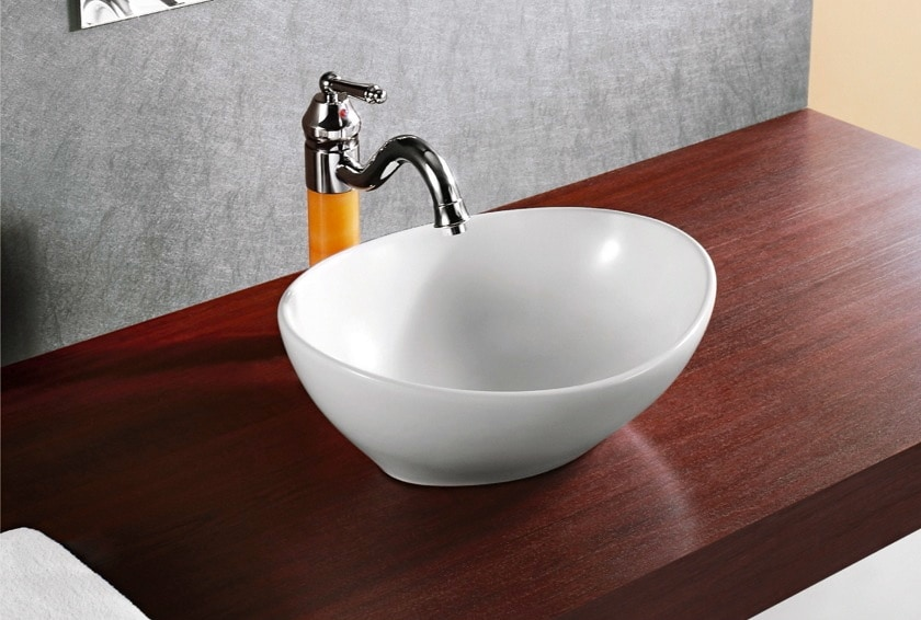 Elanti elanti collection ec9838 porcelain white vessel for Are vessel sinks out of style