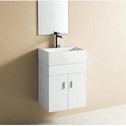 ELANTI EC9859P SV Melamine Wall hung Vanity & Porcelain Rectangle Sink Model 151828101 Bathroom Sinks