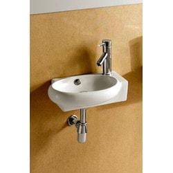 ELANTI EC9888 L Porcelain Mounted Oval Left Facing Sink Model 151828051 Bathroom Sinks