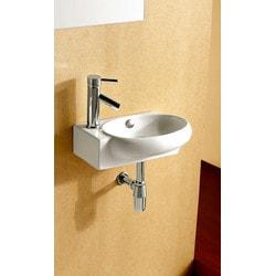 ELANTI EC9888 R Porcelain Mounted Oval Right Facing Sink Model 151828061 Bathroom Sinks