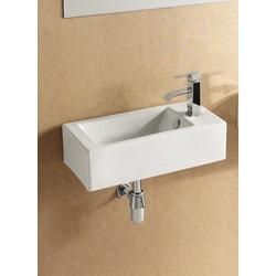 ELANTI EC9899 L Porcelain Wall Mounted Rectangle Left Facing Sink Model 151828071 Bathroom Sinks