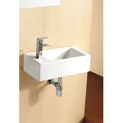 ELANTI EC9899 R Porcelain Wall Mounted Rectangle Right Facing Sink Model 151828081 Bathroom Sinks
