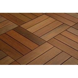 Kontiki FlexDeck Interlocking Wood Deck Tiles Model 150208041 Deck Tiles