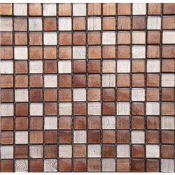 GL Stone & Tile Checkerboard Pattern Glass Mosaics Model 151701891 Kitchen Glass Mosaics