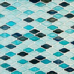 GL Stone & Tile Arabesque Pattern Glass Mosaics Model 151701901 Kitchen Glass Mosaics
