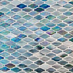 GL Stone & Tile Arabesque Pattern Glass Mosaics Model 151701911 Kitchen Glass Mosaics