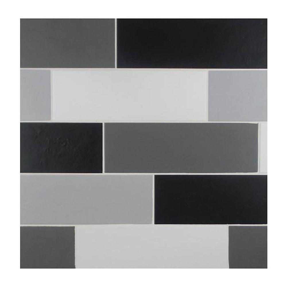 GL Stone Tile Italian Porcelain Subway Tiles Black 4 X12
