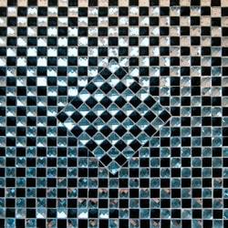 GL Stone & Tile Checkerboard Pattern Glass Mosaics Model 151701871 Kitchen Glass Mosaics