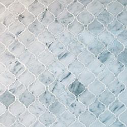 GL Stone & Tile Arabesque Pattern Marble Mosaics Model 151796011 Kitchen Stone Mosaics