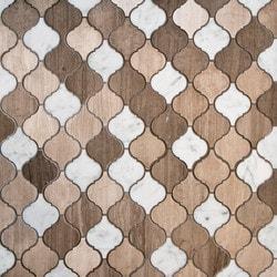 GL Stone & Tile Arabesque Pattern Marble Mosaics Model 151795721 Kitchen Stone Mosaics