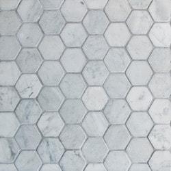 GL Stone & Tile Hexagon Pattern Natural Stone Mosaics Model 151795901 Kitchen Stone Mosaics