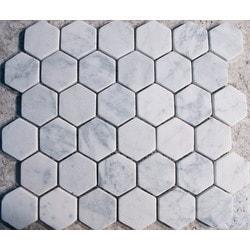 GL Stone & Tile Hexagon Pattern Natural Stone Mosaics Model 151795911 Kitchen Stone Mosaics
