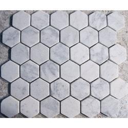GL Stone & Tile Hexagon Pattern Natural Stone Mosaics Model 151796001 Kitchen Stone Mosaics