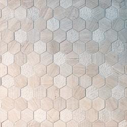GL Stone & Tile Hexagon Pattern Natural Stone Mosaics Model 151795941 Kitchen Stone Mosaics