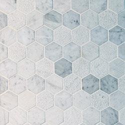 GL Stone & Tile Hexagon Pattern Natural Stone Mosaics Model 151795951 Kitchen Stone Mosaics