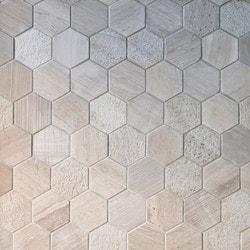 GL Stone & Tile Hexagon Pattern Natural Stone Mosaics Model 151795961 Kitchen Stone Mosaics