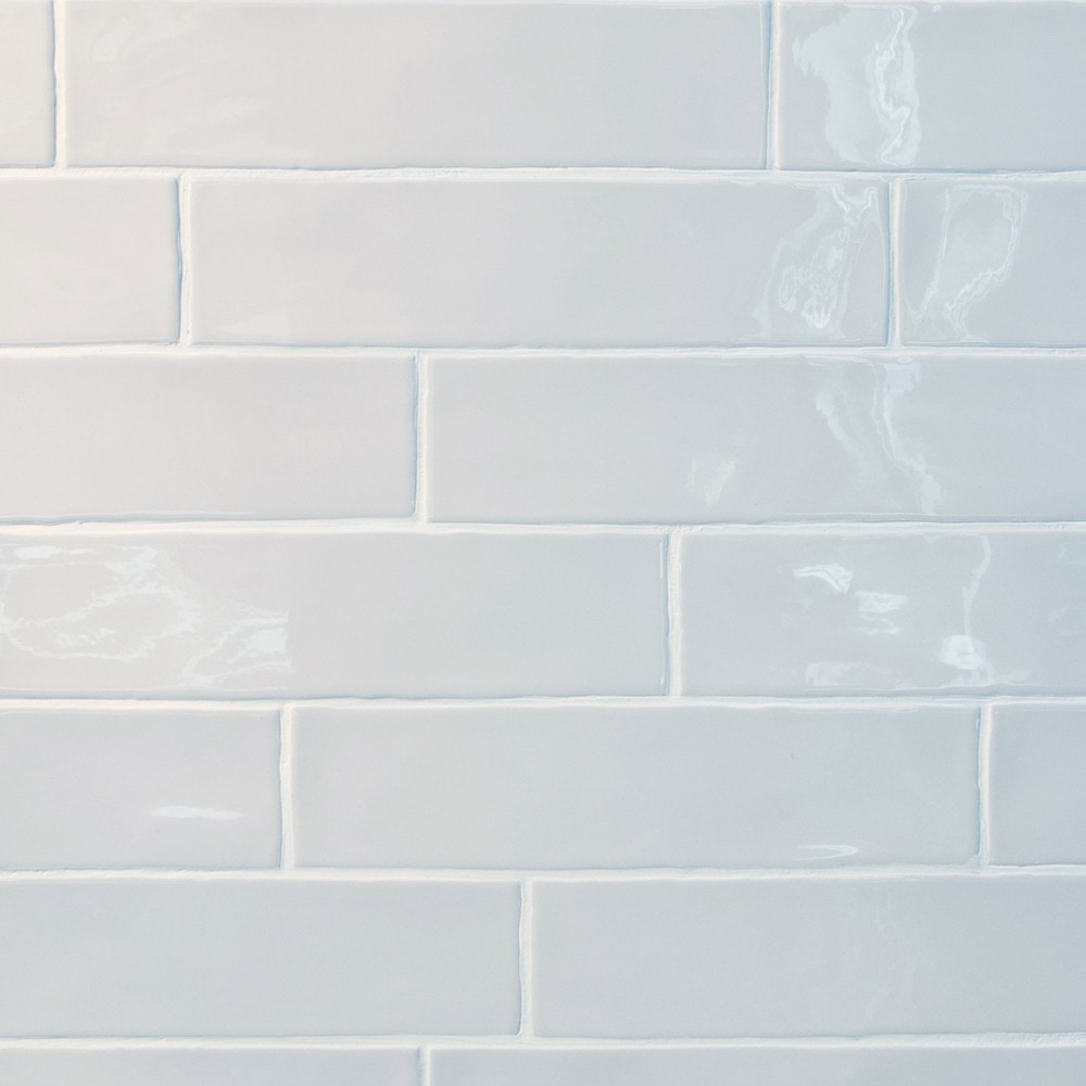 Gl stone tile rippled edge porcelain subway tiles white for White subway tile
