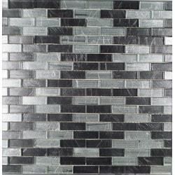 GL Stone & Tile Brick Pattern Glass Mosaics Model 151702091 Kitchen Glass Mosaics