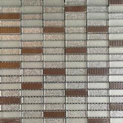GL Stone & Tile Stacked Pattern Stone Glass Mosaic Model 151701931 Kitchen Glass Mosaics