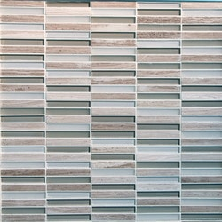 GL Stone & Tile Stacked Pattern Stone & Glass Mosaic Model 151779671 Kitchen Wall Tiles