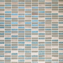 GL Stone & Tile Stacked Pattern Stone & Glass Mosaic Model 151779651 Kitchen Wall Tiles