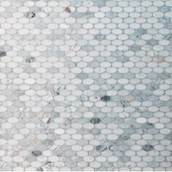 GL Stone & Tile Oval Pattern Natural Stone Mosaics Model 151792431 Kitchen Stone Mosaics