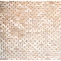 GL Stone & Tile Oval Pattern Natural Stone Mosaics Model 151792441 Kitchen Stone Mosaics