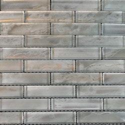 GL Stone & Tile Brick Pattern Glass Mosaics Model 151702051 Kitchen Glass Mosaics
