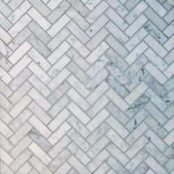 GL Stone & Tile Herringbone Pattern Natural Stone Mosaics Model 151792401 Kitchen Stone Mosaics