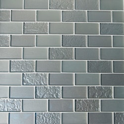 GL Stone & Tile Brick Pattern Glass Mosaics Model 151702101 Kitchen Glass Mosaics