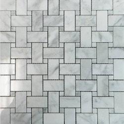 GL Stone & Tile Basketweave Pattern Natural Stone Mosaics Model 151792371 Kitchen Stone Mosaics