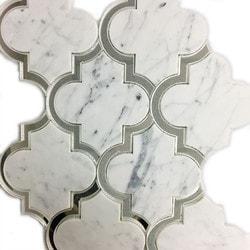 GL Stone & Tile Water Jet Cut Marble Mosaics Model 151795821 Kitchen Stone Mosaics