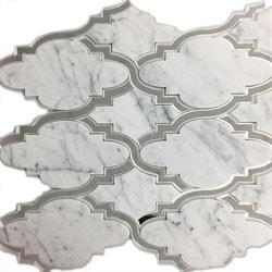 GL Stone & Tile Water Jet Cut Marble Mosaics Model 151795971 Kitchen Stone Mosaics