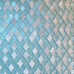 GL Stone & Tile Frosted Diamond Glass & Natural Stone Mosaic Model 151779571 Kitchen Wall Tiles