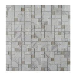 GL Stone & Tile Modular Pattern Stone & Glass Mosaic Model 151779731 Kitchen Wall Tiles