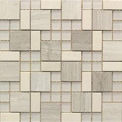 GL Stone & Tile Modular Pattern Stone & Glass Mosaic Model 151779741 Kitchen Wall Tiles