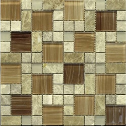 GL Stone & Tile Modular Pattern Stone & Glass Mosaic Model 151779751 Kitchen Wall Tiles