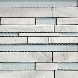 GL Stone & Tile Linear Pattern Stone & Glass Mosaic Model 151779711 Kitchen Wall Tiles