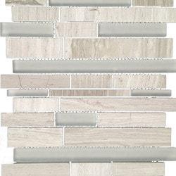 GL Stone & Tile Linear Pattern Stone & Glass Mosaic Model 151779721 Kitchen Wall Tiles