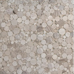 GL Stone & Tile Random Circles Natural Stone Mosaics Model 151792231 Kitchen Stone Mosaics