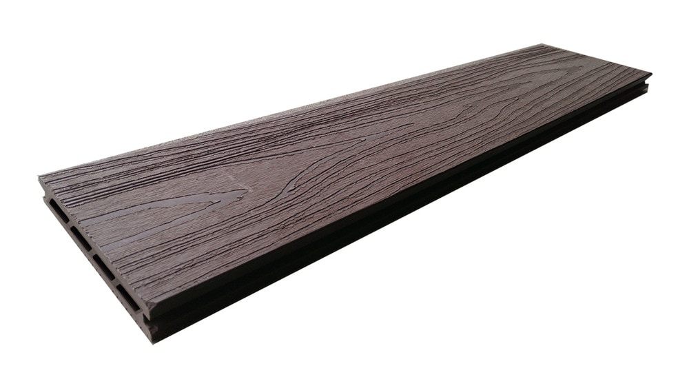 Century home living chl walnut brown hollow deck board 12 for Cheap decking boards b q