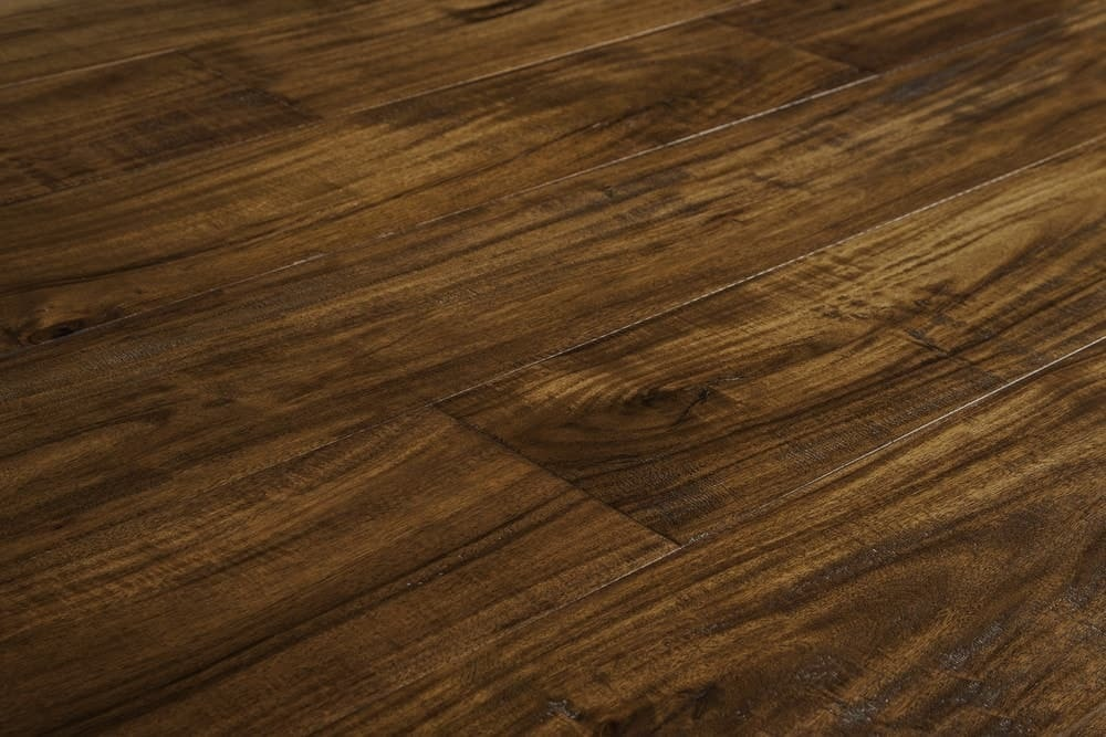 Acacia hardwood plank floors in several tonestwo tone for Cheap engineered wood flooring