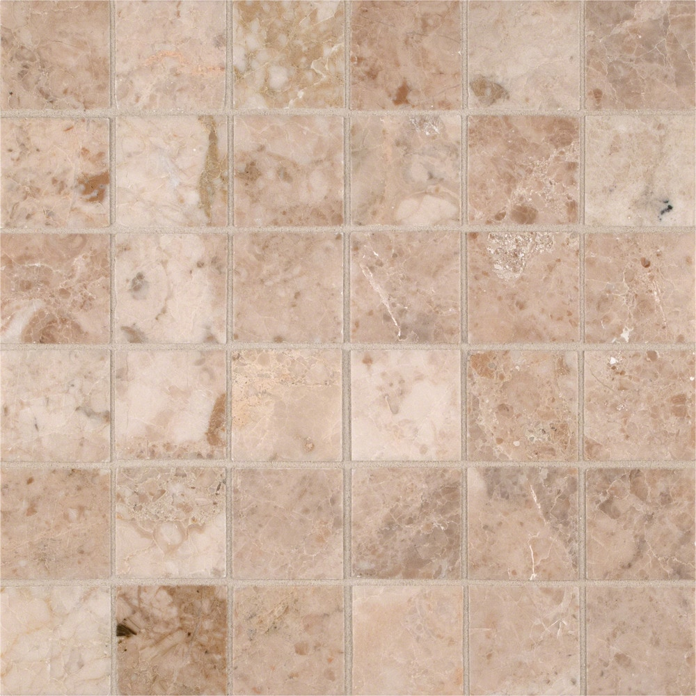 Ms International Marble Mosaic Crema Cappuccino Crema