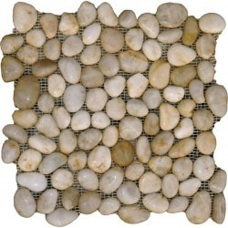 MS International White Pebbles Type 150062801 Kitchen Stone Mosaics in Canada